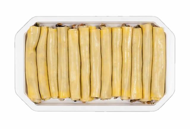 Cannelloni di pasta alle Verdure