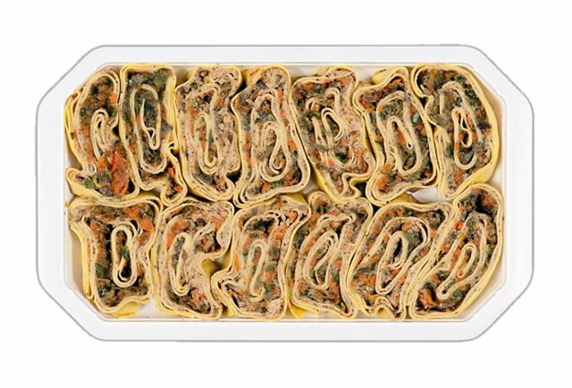 Rotoli di pasta alle Verdure