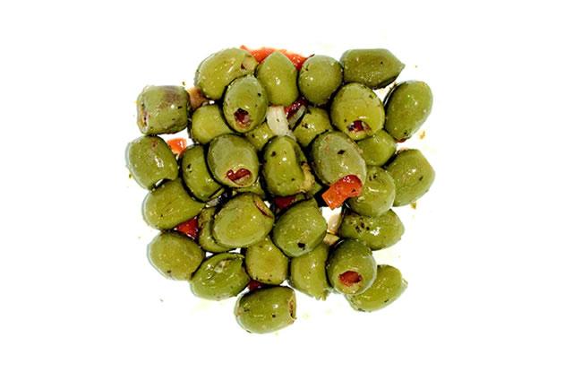 olive farcite al peperone condite