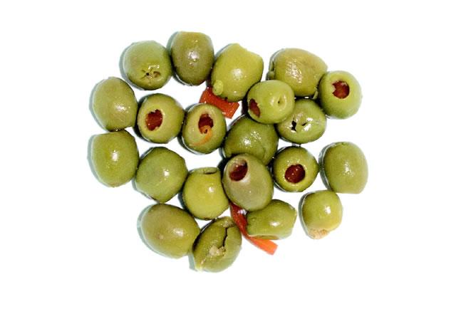 olive farcite al peperone in salamoia
